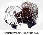beautiful artwork of young... | Shutterstock .eps vector #565785766