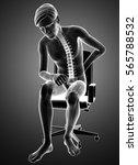 3d illustration of male feeling ... | Shutterstock . vector #565788532