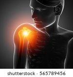 3d illustration of male feeling ...   Shutterstock . vector #565789456