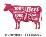 meat  fresh beef  vector label. ...   Shutterstock .eps vector #565800082