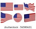 american flag set | Shutterstock .eps vector #56580631