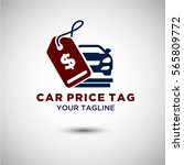 price tag car logo vector.... | Shutterstock .eps vector #565809772