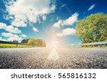 asphalt road in beautiful... | Shutterstock . vector #565816132