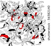 decorative floral background   Shutterstock .eps vector #56582140