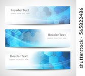 vector banner abstract... | Shutterstock .eps vector #565822486