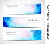 vector banner abstract... | Shutterstock .eps vector #565822492