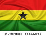 ghana flag with fabric texture. ... | Shutterstock . vector #565822966