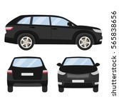 car vector template on white... | Shutterstock .eps vector #565838656