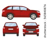 car vector template on white... | Shutterstock .eps vector #565840876