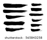 brush strokes isolated. ink... | Shutterstock .eps vector #565843258