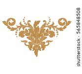 baroque vintage element for... | Shutterstock .eps vector #565848508