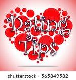 dating tips heart circles...   Shutterstock . vector #565849582