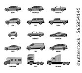 automobile set isolated on... | Shutterstock .eps vector #565854145