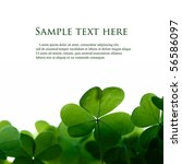Green Clover Leafs Border With...