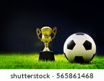 soccer on grass  and stadium. | Shutterstock . vector #565861468
