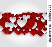 valentine's day heart symbol.... | Shutterstock . vector #565863226