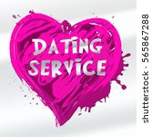 dating service heart design... | Shutterstock . vector #565867288