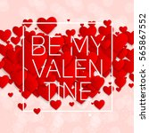 valentine's day heart symbol.... | Shutterstock . vector #565867552