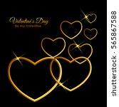 valentine's day heart symbol.... | Shutterstock . vector #565867588