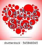 dating sites heart circles...   Shutterstock . vector #565868365