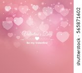 valentine's day heart symbol.... | Shutterstock . vector #565871602