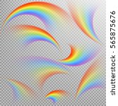 rainbows in different shape... | Shutterstock .eps vector #565875676