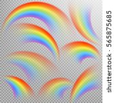 rainbows in different shape...   Shutterstock .eps vector #565875685