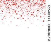 Red Hearts Confetti. Scatter...