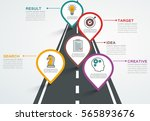 road infographic with pointers  ... | Shutterstock .eps vector #565893676