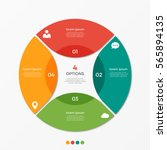 circle chart infographic... | Shutterstock .eps vector #565894135