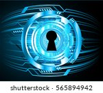 safety concept  closed padlock... | Shutterstock .eps vector #565894942