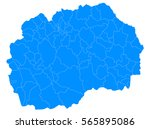 blue map of macedonia | Shutterstock .eps vector #565895086