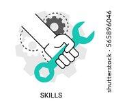 symbol of skills  ability. hand ... | Shutterstock .eps vector #565896046