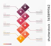 vector 8 option infographic... | Shutterstock .eps vector #565899562