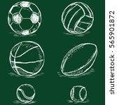 vector chalk sketch... | Shutterstock .eps vector #565901872