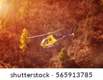 rescue helicopter over the...   Shutterstock . vector #565913785
