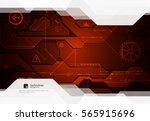 hi tech digital technology and... | Shutterstock .eps vector #565915696