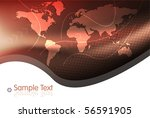 beautiful map on red background | Shutterstock .eps vector #56591905
