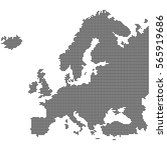 detailed map of europe made of... | Shutterstock .eps vector #565919686