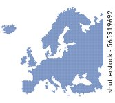 detailed map of europe made of... | Shutterstock .eps vector #565919692