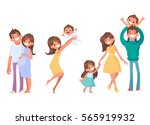 set of vector cartoon... | Shutterstock .eps vector #565919932