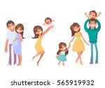 set of vector cartoon... | Shutterstock .eps vector #565919932