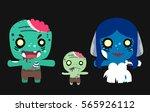 Creepy Zombie Family Vector...
