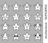 star emoji  emoticon set... | Shutterstock .eps vector #565928902
