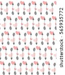 valentines day seamless pattern ... | Shutterstock .eps vector #565935772