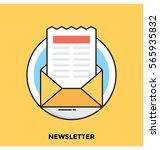 newsletter vector icon | Shutterstock .eps vector #565935832