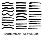 set of black paint  ink brush... | Shutterstock .eps vector #565938085