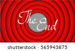 the end title | Shutterstock .eps vector #565943875