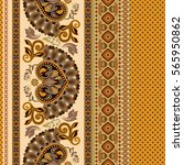 floral seamless pattern. ethnic ... | Shutterstock .eps vector #565950862