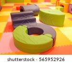 Small photo of Colorful children soft play area